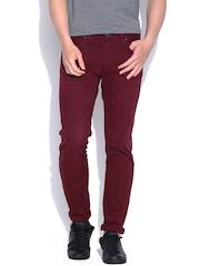 Jack & Jones Wine-Coloured Slim Fit Jeans