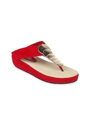 Shoetopia Women Red Flats
