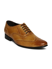 San Frissco Men Brown Oxford Formal Shoes
