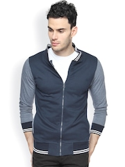Campus Sutra Navy & Grey Jacket
