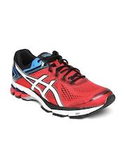 ASICS Men Red & Black GT-1000 4 Sports Shoes