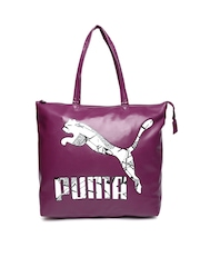 PUMA Women Purple Printed Shopper Bag