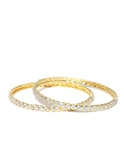 Sukkhi Set of 2 Stone-Studded Gold-Plated Bangles