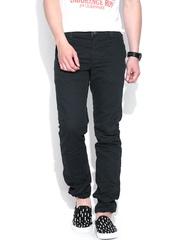 Jack & Jones Black Mike Comfort Fit Casual Trousers