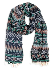 20Dresses Women Blue Aztec Print Scarf