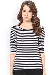 Harpa Black & White Striped Top