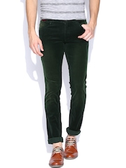 John Players Green Skinny Fit Corduroy Trousers