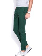 John Players Green Slim Chino Trousers