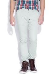 Breakbounce Grey Street Smart Slim Fit Chino Trousers
