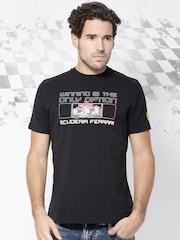 Ferrari Black Printed Winning S.F. T-shirt
