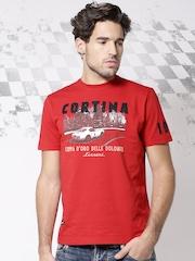 Ferrari Red Printed T-shirt