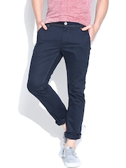 Being Human Clothing Navy Casual Trousers
