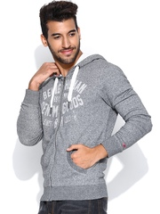 Being Human Clothing Grey Hooded Sweatshirt