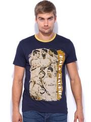 Real Madrid Navy Printed T-shirt