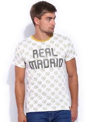 Real Madrid Off-White Printed T-shirt