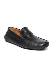 Clarks Men Black Leather Loafers