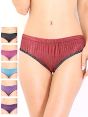 Leading Lady Pack of 6 Printed Briefs 31.6