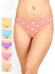 Leading Lady Pack of 6 Printed Briefs 32.5