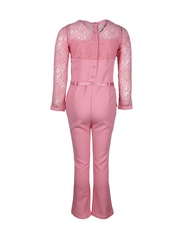 CUTECUMBER Girls Pink Jumpsuit