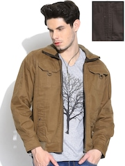 Duke Khaki & Coffee Brown Reversible Jacket