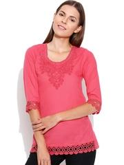 U&F Pink Lace Top