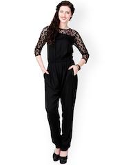 Eavan Black Lace Jumpsuit