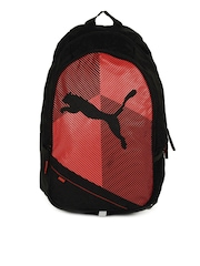 PUMA Unisex Echo Plus Black & Red Backpack