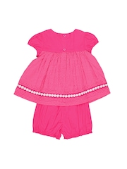 Nauti Nati Girls Fuschia Pink Printed Clothing Set