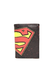 Superman Unisex Black Printed Wallet