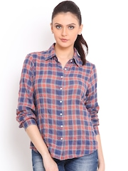 Trend Arrest Blue & Red Checked Shirt