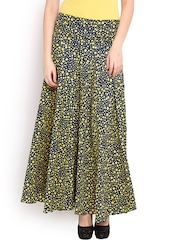 Trend Arrest Navy Printed Palazzo Trousers