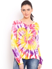 Trend Arrest Multicoloured Tie-Dyed Jacket