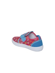 Kittens Girls Fuchsia Pink Printed Casual Shoes