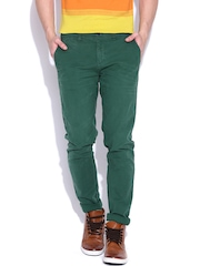 United Colors of Benetton Green Casual Trousers