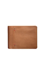 Teakwood Leathers Men Tan Brown Textured Wallet