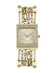 GUESS Women Gold-Toned Dial Watch W0140L2