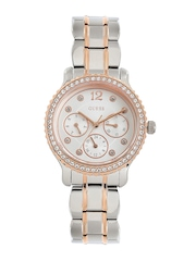 GUESS Women Silver-Toned Dial Embellished Watch W0305L3