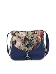 Vogue Tree Blue Printed Sling Bag