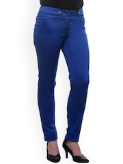 Kaaryah Blue Relaxed Fit Casual Trousers