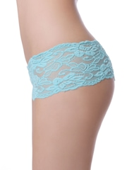 N-Gal Women Blue Lace Thong Briefs NYP5059