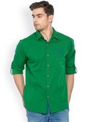 Mufti Green Casual Shirt