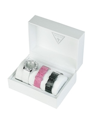 Guess Women Sparkle Box Set Watch With Interchangeable Straps