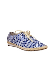 20D Women Blue & White Casual Shoes