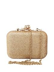20D Women Gold-Toned Box Clutch