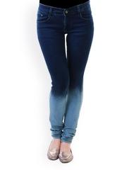 20D Women Blue Ombre Slim Fit Jeans