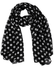 20D Women Black Polka Dot Stole