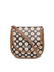 3 Mad Chicks Brown & Black Sling Bag