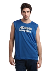 Adidas Men Blue Basketball Jersey
