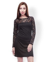 499 Black Lace Shift Dress