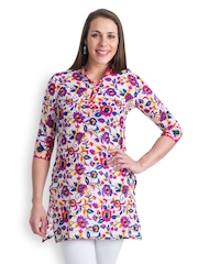 499 Women Multi-Coloured Floral Print Kurti